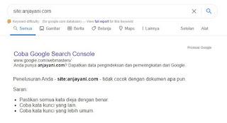 terindex di google