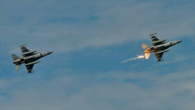 F-16 de EEUU lanza bomba accidentalmente sobre una aldea en Japón