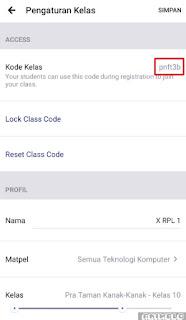 kode kelas edmodo