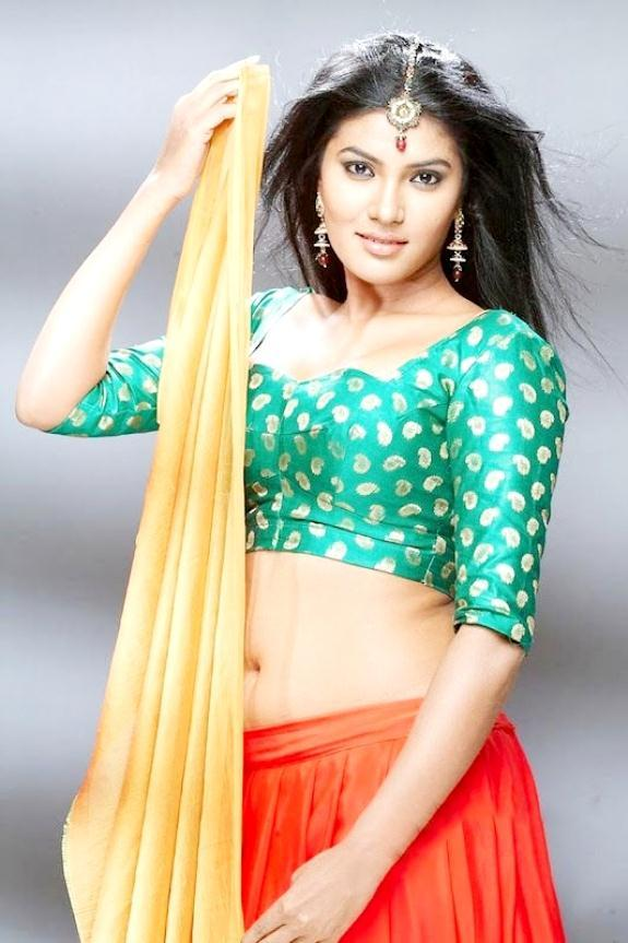 rhythamika saree hot photoshoot