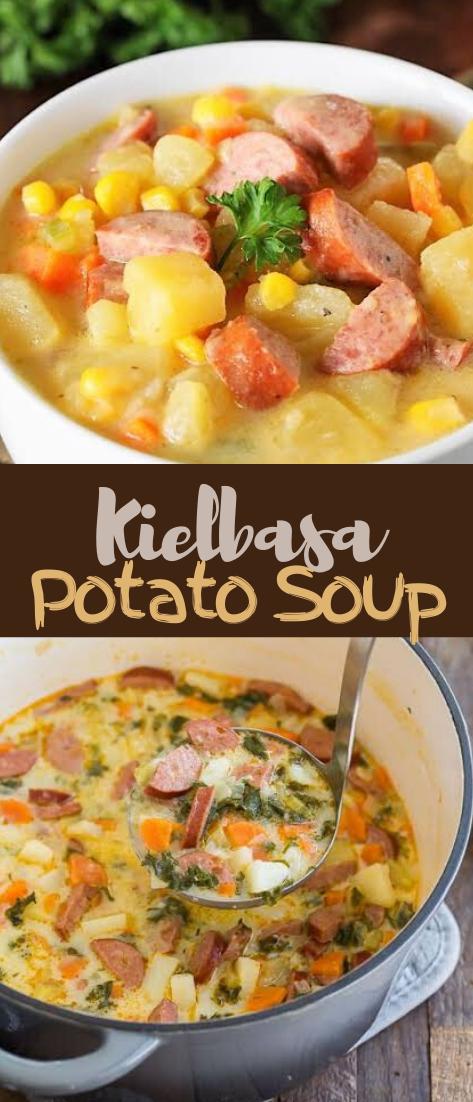 Kielbasa Potato Soup #dinnereasy #quickandeasy #dinnerrecipe #lunch #amazingappatizer