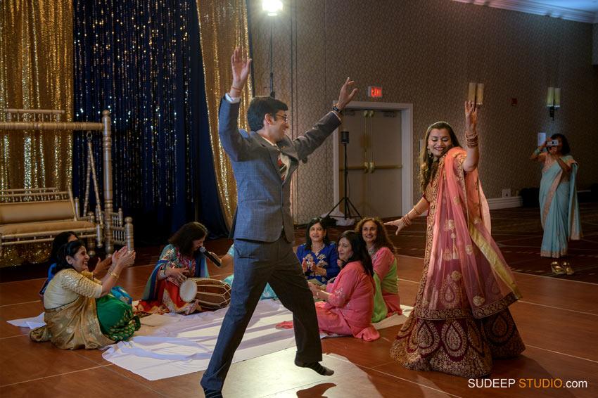 Indian Wedding Sangeet Dancing Photography South Asian Hindu Wedding by SudeepStudio.com Ann Arbor Indian Wedding Photographer