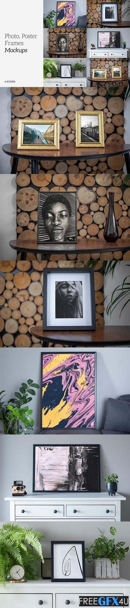 Photo Poster Frames Mockups