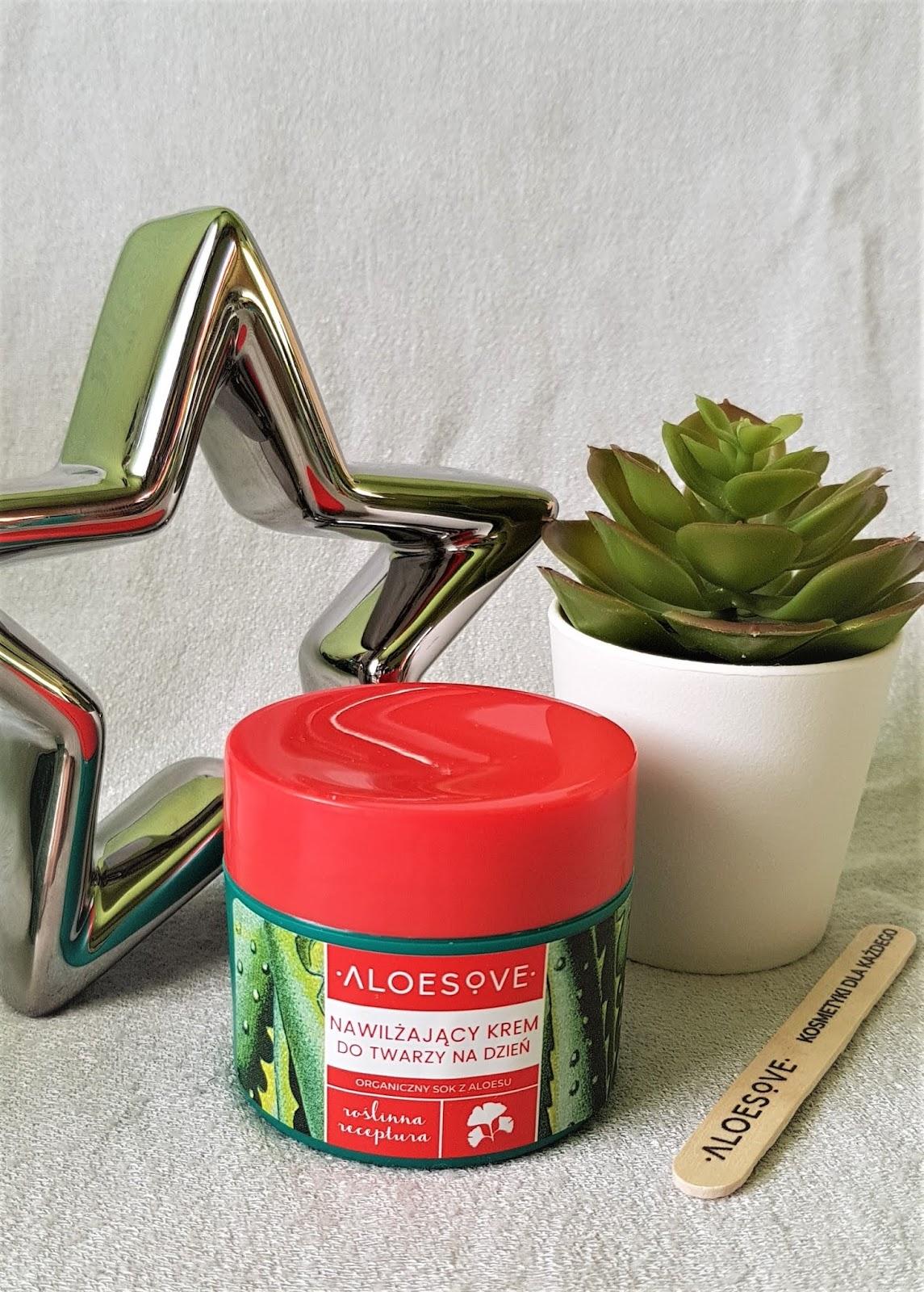 Aloesove nawilżający krem do twarzy na dzień