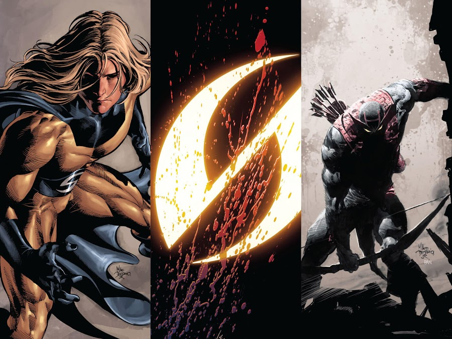 siege dark avengers the sentry bullseye hawkeye brian michael bendis mike deodato jr.