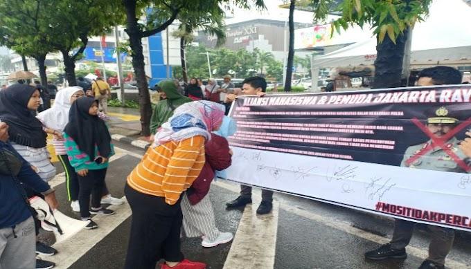 Aliansi Mahasiswa dan Pemuda Jakarta Raya Tandatangani Petisi Tolak Irjen Nana Sujana Jabat Kapolda Metro Jaya