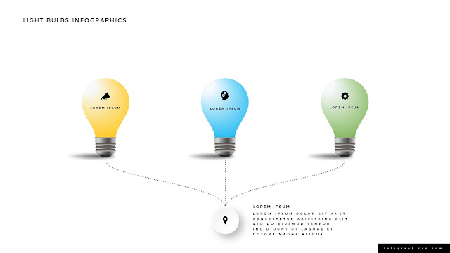 Shining Light Bulb Infographics PowerPoint Slide Type F