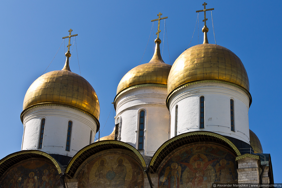 Купола Успенского собора | The domes of The Assumption Cathedral