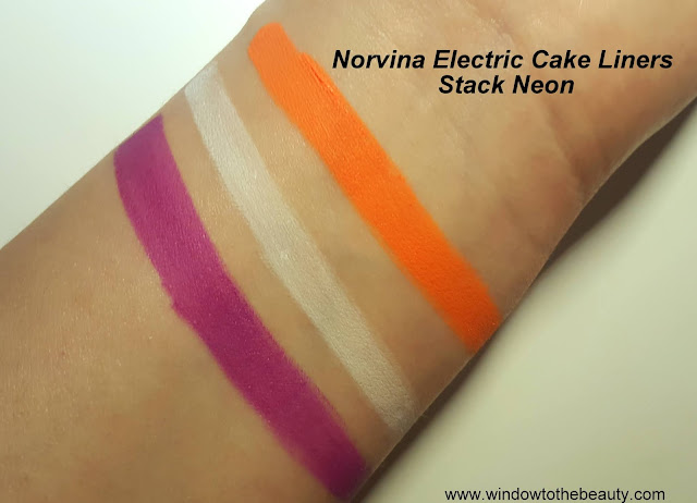 Norvina Electric Cake Liners Stack Neon swatches