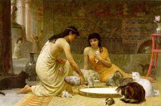 Resultado de imagen para ilustraciones antiguo egipto niño nacido bajo signo de bastet