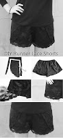 DIY Runner Lace Shorts