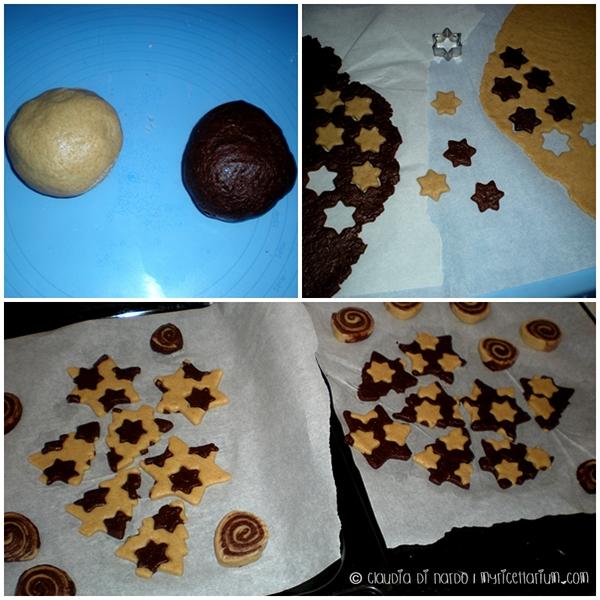 Biscotti speziati bicolore