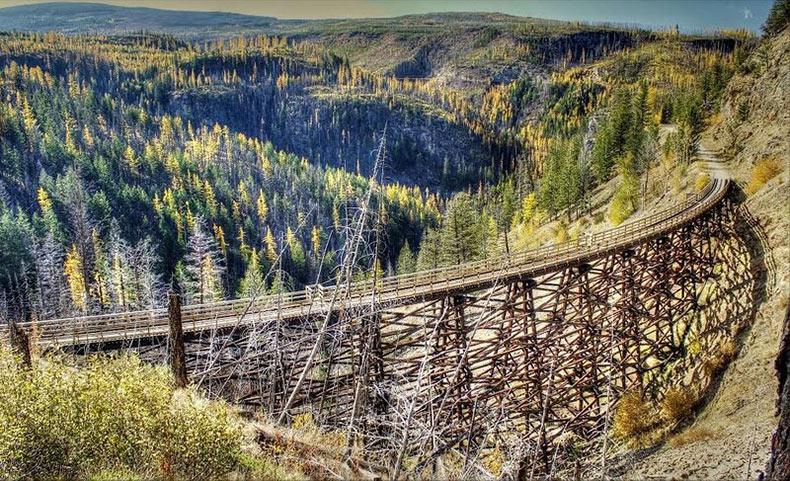 La abandonada zona ferroviaria del cañon Myra | Canada