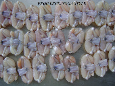 Frog legs, saw, saddle on, belly off, yoga style