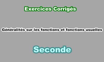 Exercices Corrigés Fonctions Usuelles Seconde PDF