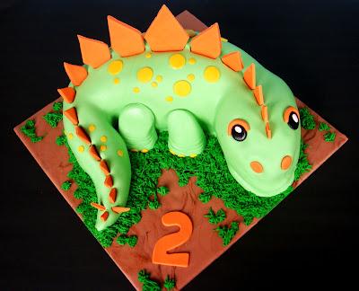 Butter Hearts Sugar Dinosaur Birthday Cake