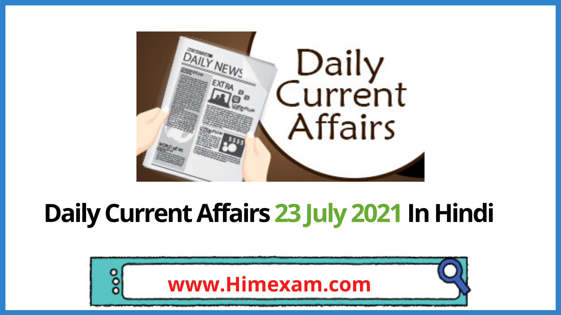 Daily Current Affairs 23 July 2021 In Hindi