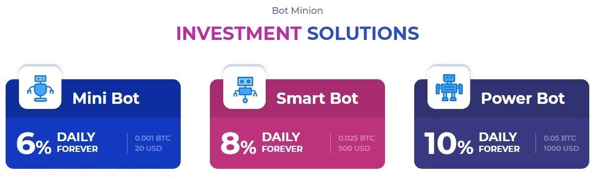 Инвестиционные планы BotMinions