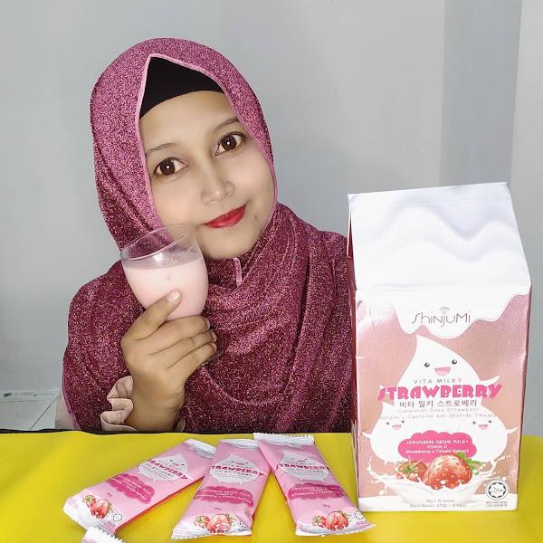 Kulit Cerah Berseri Dengan Shinjumi Vita Milky Strawberry
