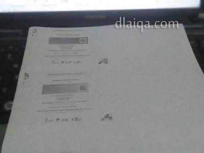 hasil cetak (print)