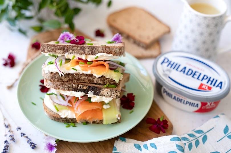 Recette sandwich truite philadelphia