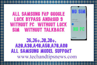 All SAMSUNG FRP Google Lock Bypass Android 9 WITHOUT PC  without PIN lock sim AND without TALKBACK