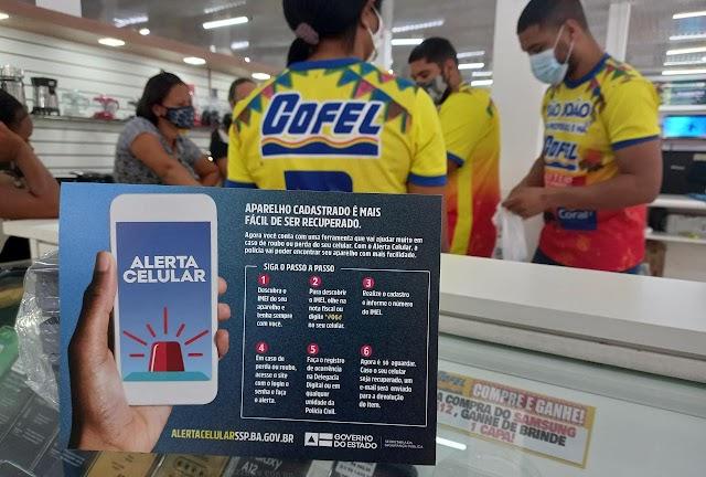 Lojas Cofel de Cruz das Almas estimulam cadastro no Alerta Celular