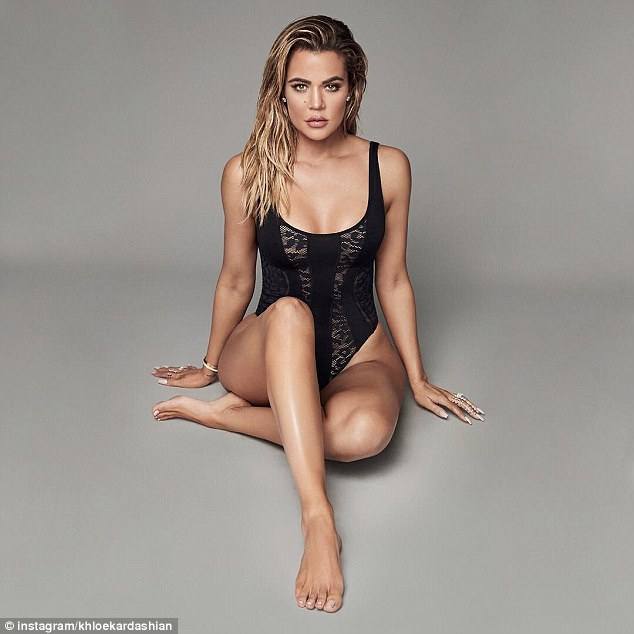 Khloe Kardashian models sexy bodysuits for Good American