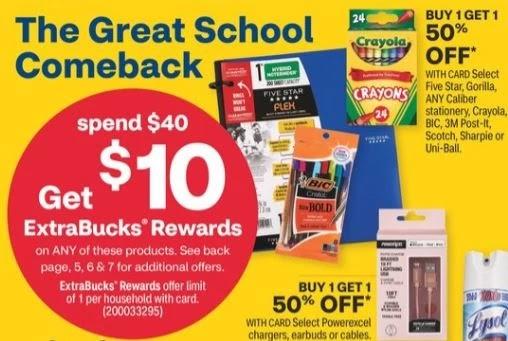 Unbeatable School Supply CVS Deals 8/8-8/14