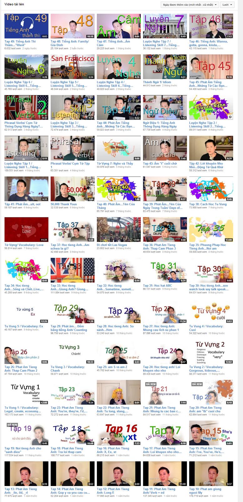 Luyện Phát Âm Tiếng Anh Trên Kênh Youtube Kenny N