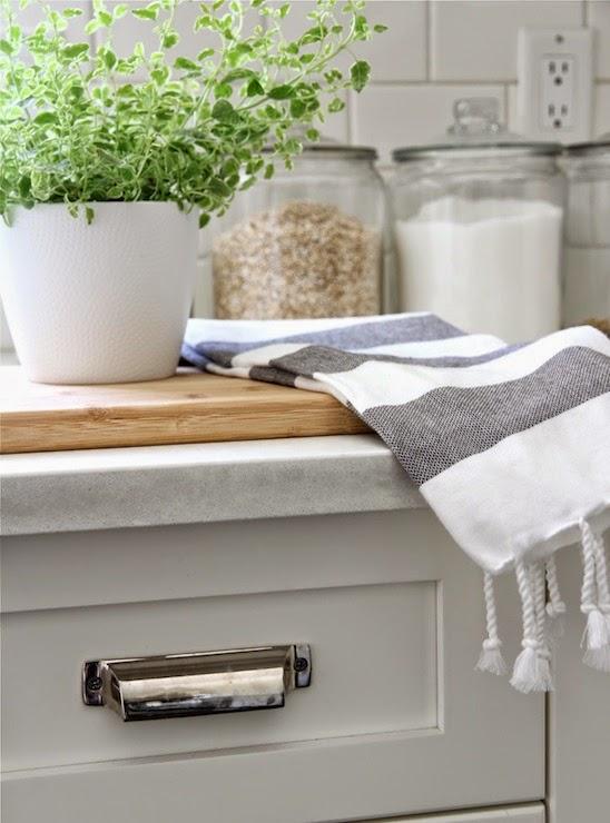 White kitchen with chrome pulls