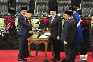Presiden Jokowi Bersyukur Acara Pelantikan Berjalan Khidmat dan Penuh Keagungan