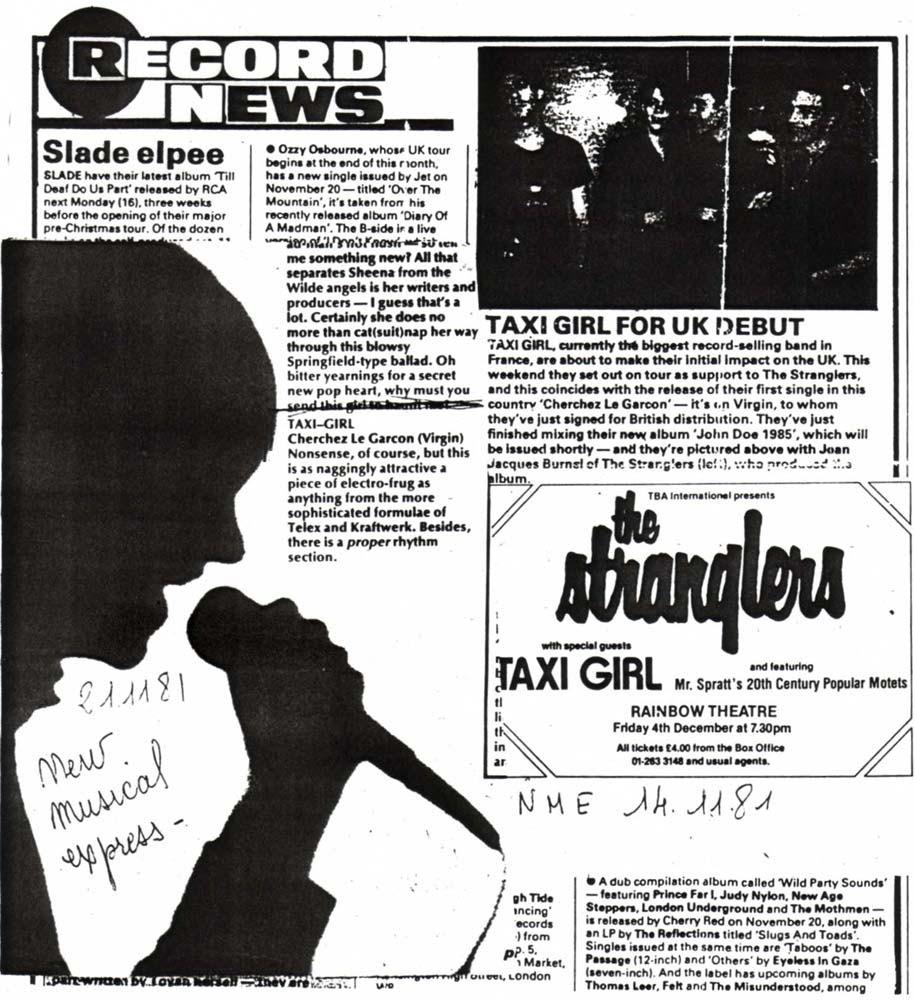 Aural Sculptors - The Stranglers Live: Taxi Girl - Seppuku Demos 1981