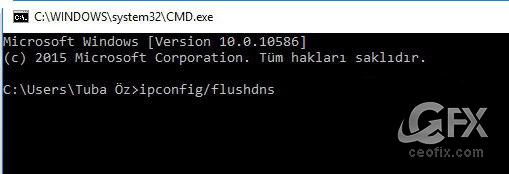 DNS Ön Belleği Nasıl Temizlenir?www.ceofix.com