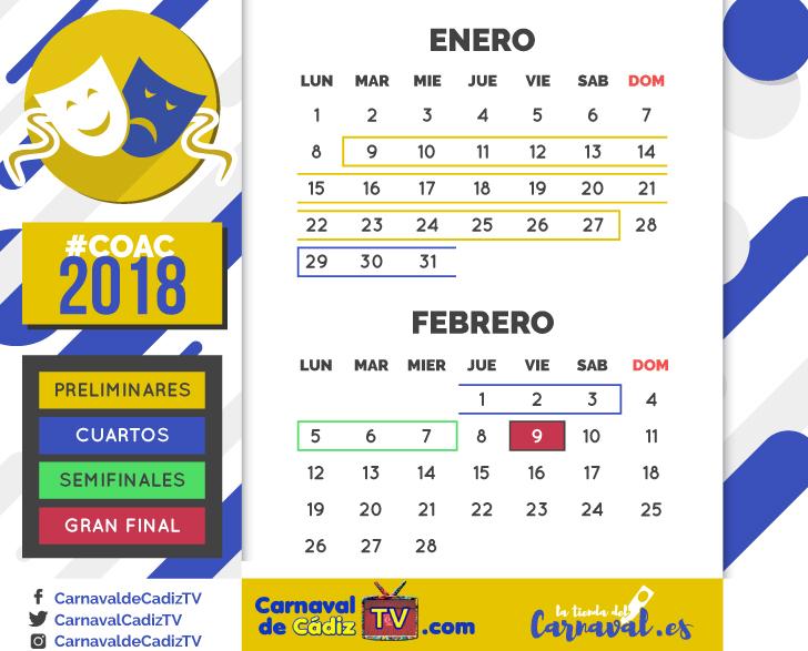 calendario coac 2018