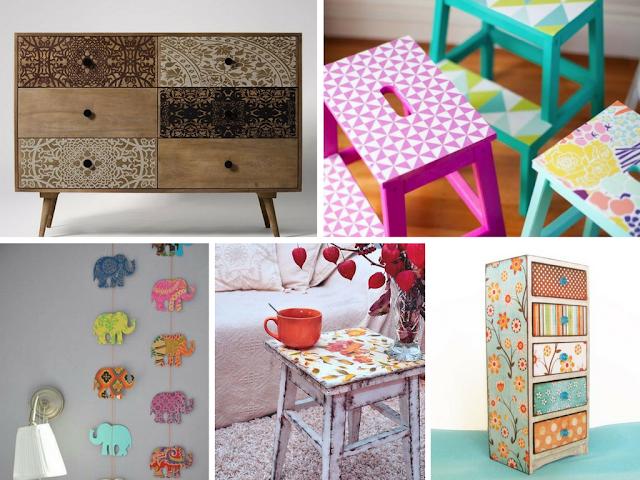 Decoupage | Aprenda a renovar os seus móveis com papel decorativo