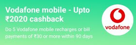 Paytm Vodafone Recharge Offer- Get Up To Rs.2020 Cashback On Mobile Recharge