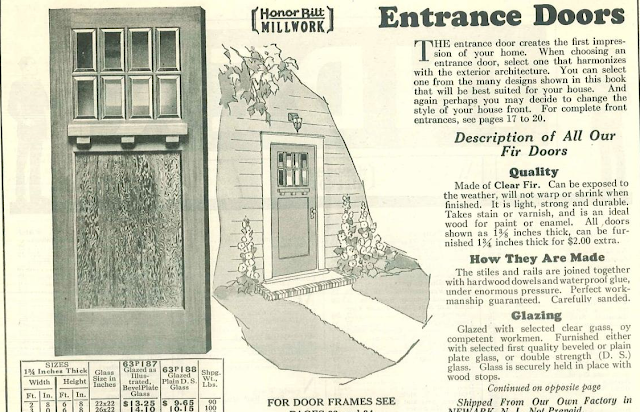 Sears Craftsman style front door in 1930 Sears Building Supplies catalog