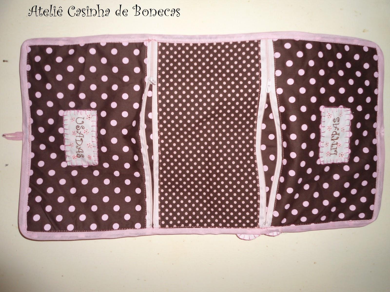 Ateliê Casinha de Bonecas  Porta lingerie limpas e usadas para viagem 16d5e93f0ca