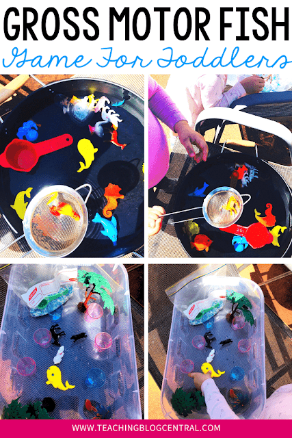 Kids LOVE to use strainers and they equally love to play with water. This DIY gross motor fish game will be a hit with your kids too. The best part? It's so simple to setup with things you already have in your home. Are you constantly on the lookout for gross motor activities?