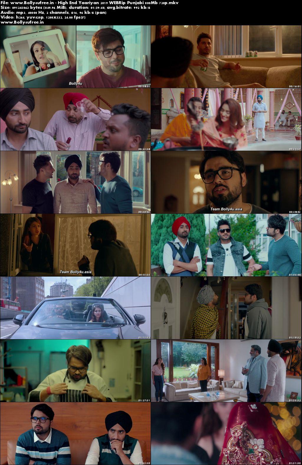 High End Yaariyan 2019 Punjabi Movie Download WEBRip 800Mb 720p