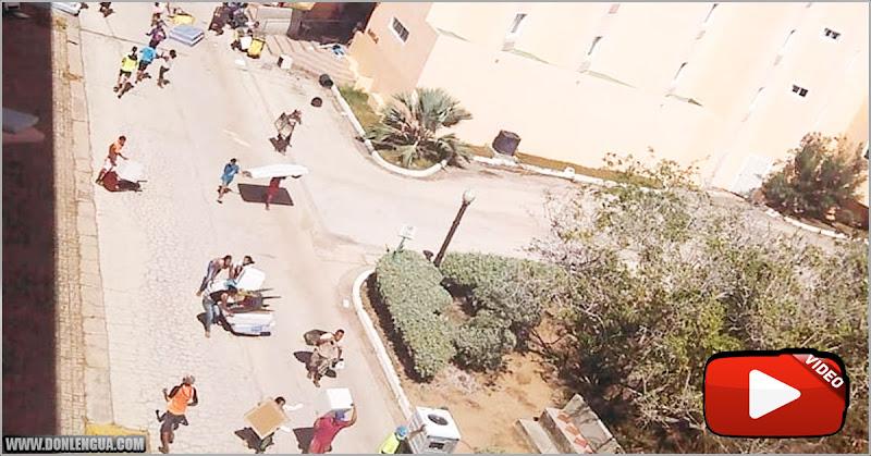 Muertosdehambre saquearon el mobiliario del hotel Portofino en nueva Esparta