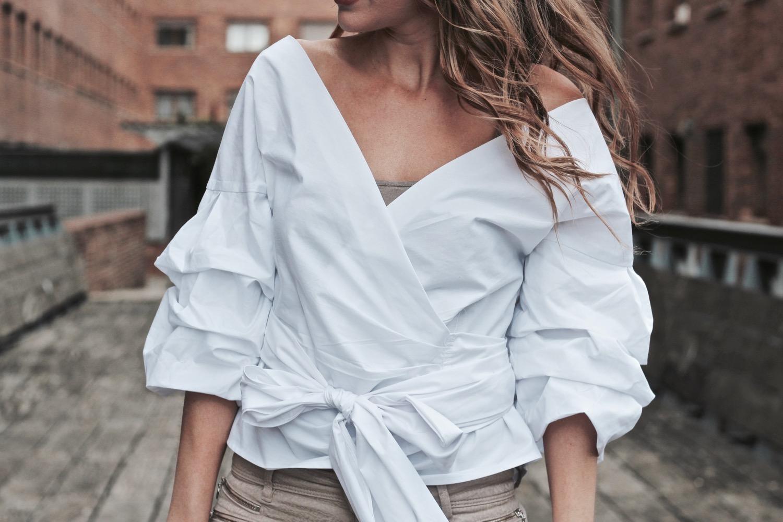blusa amarrada cintura