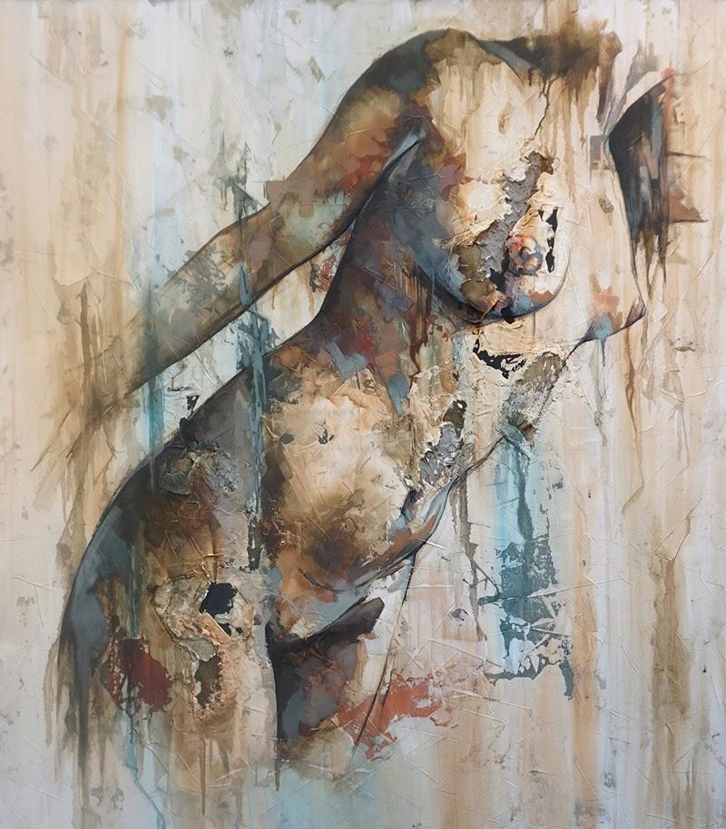 Nude Figurative Paintings by Francisco Jose Jimenez.