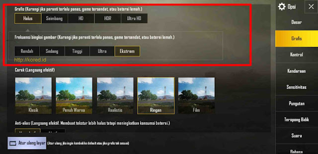 Setting Graphics GFX Tool Pubg Mobile 0.13.0
