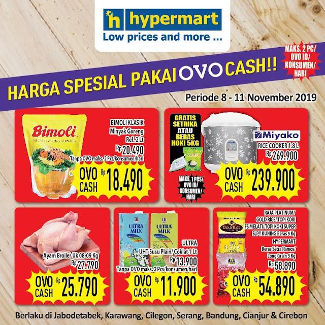 #Hypermart - #Promo Harga Special Pakai OVO Cash Periode 08 - 11 November 2019