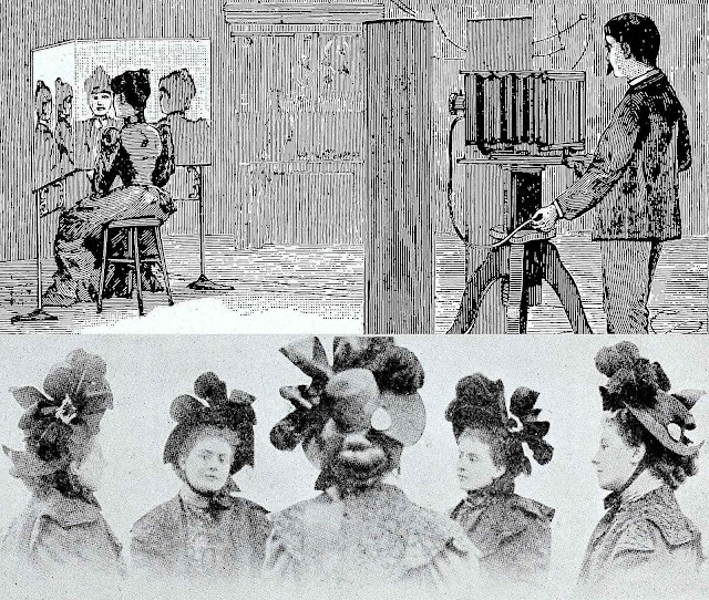 a 1900 photography trick mirrored portrait