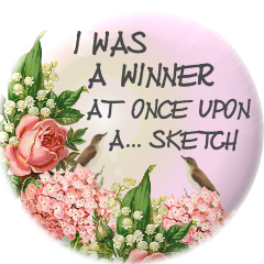 I was a winner at Once Upon A Sketch
