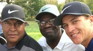 Cameron Champ With His Father And Grand Father