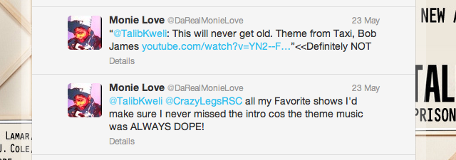 Wow, Monie Love came out of hiding just to say that?